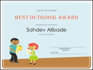 Best Outgoing Award-MIDM